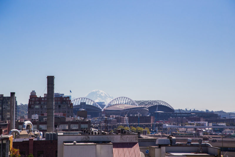 Mount Rainier at a distance