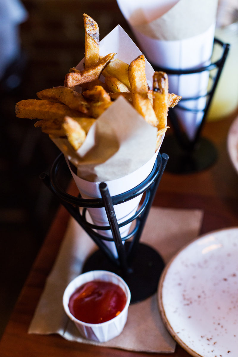 Truffle ketchup + duck fat fries