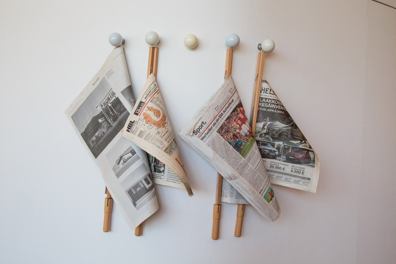 Interesting way to store newspapers