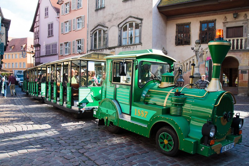 "You can take a mini ""train"" ride through Colmar during the day"