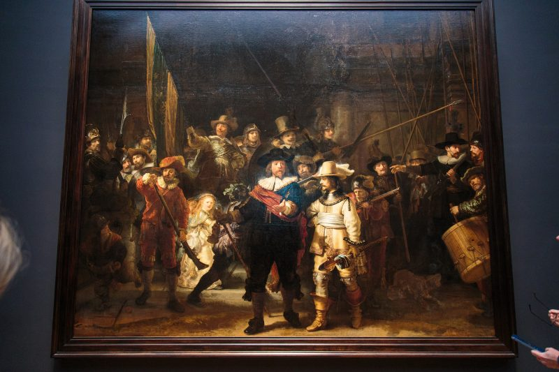 """Rembrandt's """"The Night Watch"""" was larger and darker than I thought it'd be."""